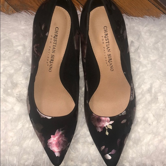 a104d930201 Christian Siriano Floral Heels